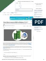 Cómo Liberar Memoria RAM en Windows 10, 8, 7 - Solvetic