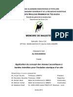 Ali Brara_Application Du Concept Des Réseaux Acoustiques à Bandes Interdites Pour l'Isolation Sismique d'Un Site ALI_BOUGRESSI Comsol