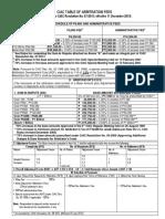 Ciac Table of Fees