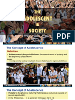 CHAPTER 5 the Adolescent in Society