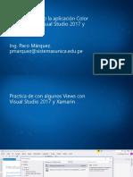 Ejemplo Con XAMARIN y Visual Studio 2017