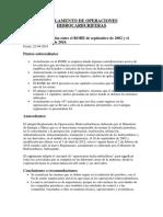 Reglamento de Operaciones Hidrocarburíferas.
