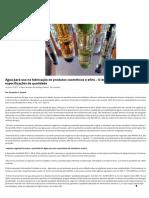 Água Para Uso Na Fabricação de Produtos Cosméticos e Afins – O Desafio Para a Definição Das Especificações de Qualidade _ Boas Práticas