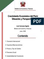 Prespectivas del crecimiento economico