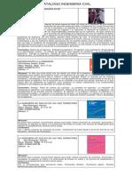 Catalogo Ingeniería Civil