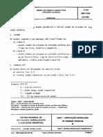 NBR 08734 - 1985 - Anodo Galvânico e Inerte Para Proteção Catódica
