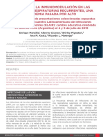 1. El Lugar de La Inmunomodulación en Las Infecciones Respiratorias Recurrentes Una Pandemia Pasada Por Alto (1)