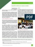 Para Una Educacion Exitosa en Zonas Rurales 1