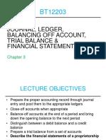 2. Supplement Bt12203 Journal, Ledger, Trial Balance Financial Statements