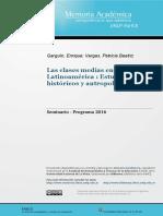 Las Clases Medias en Latinoamerica, Estudios Historicos y Antropologicos (PROGRAMA CURSO)