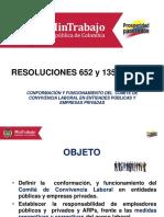 Presentación Resolución Comité Convivencia Laboral Con Modificaciones
