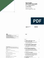 Fradkin Raul y Juan Carlos Garavaglia. La Argentina Colonial. El río de la Plata siglos XVI-XIX..pdf