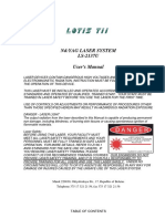 Laser Manual LS-2137U DESY