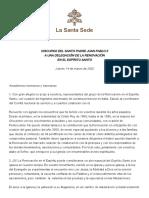 Discurso Juan Pablo II Marzo 2002