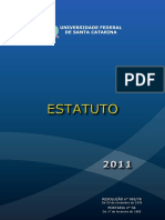 Estatuto e Regimento Da Universidade Federal de Santa Catarina