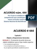 Resumen Acuerdo 444 - Competencias