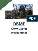 DBMF Army Lists for Warhammer V2