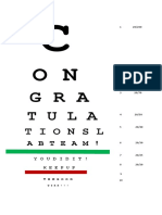 eye chart for lab