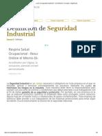 ¿Qué Es Seguridad Industrial_ - Su Definición, Concepto y Significado