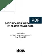 Participación Ciudadana en el Gobierno Local