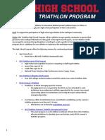 2018 USA Triathlon High School Program
