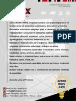 Brochure Farax Peru 2018