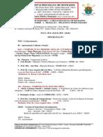 Programação Do Seminário - Divulgação