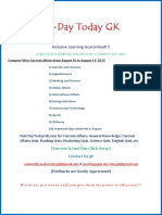 Current Affairs PDF (August 2015) by DayTodayGK