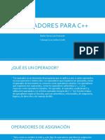 OPERADORES PARA C++ bvb
