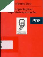 Interpretação e Superinterpretação. Umberto Eco