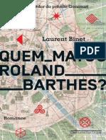 Quem Matou Roland Barthes - Laurent Binet