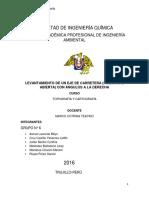 LEVANTAMIENTO DE UN EJE DE CARRETERA (POLIGONAL ABIERTA) CON ÁNGULOS A LA DERECHA