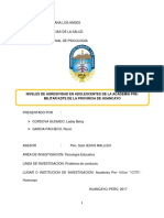 NIVELES DE AGRESIVIDAD EN ADOLESCENTES DE LA ACADEMIA PRE- MILITAR KDTE DE LA PROVINCIA DE HUANCAYO