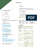 Formulae Sheet (Geo-tech engg)
