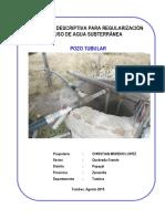 Memoria_descriptiva Para Agua Subterranea Formato Anexo Nº 06