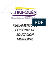 Reglamento Personal de Educación Municipal