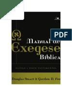 Manual de Exegese Bíblica Antigo e Novo Testamentos - Gordon D. Fee - Douglas Stuart