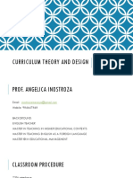 Curriculum Theory and Design