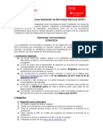 Convocatoria Becas Santander de Movilidad Naci