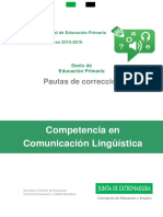 Pautas de Corrección 6º CCL Extremadura 2016