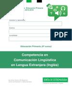 Ingles Evaluación 6º E.P. CCLLE