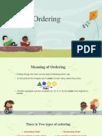 ordering   math lesson