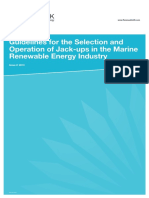 Ruk13 h Guidelines for the Selection and Operations of Jack Ups in the Marine Renewable Energy Industry