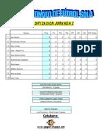 Jornada 2 X Campeonato de Fútbol Sala