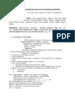 Guidlines for b.tech Seminar Report