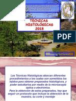 TECNICAS HISTOLÓGICAS 2018