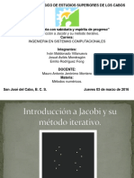 Introduccion a Jacobi y Su Metodo Iterativo