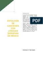 Antología de Canciones Con Lenguas Indígenas de México