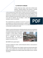 El Proyecto Urbano