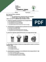 Evaluacion de Ciencias Naturales 5º Basico Electricidad en La Vida Cotidiana